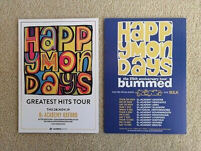 Happy Mondays Gig Flyers Collection - Including 25th Anniversary Tour - MINT  • 1.99£