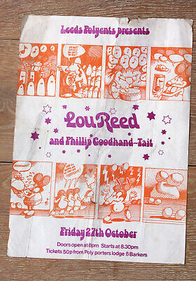 Lou Reed Leeds Polytechnic 27th October1972  Poster • 14.99£