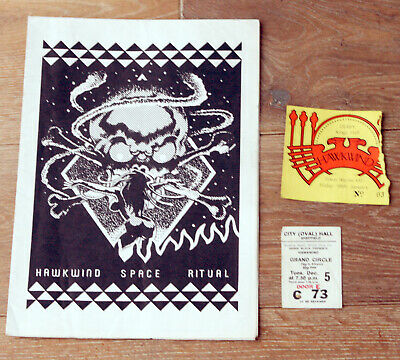 Hawkwind 1972 Uk Space Ritual Tour Programme With Tickets • 24.99£