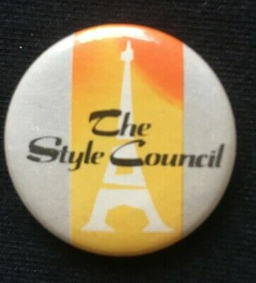 THE STYLE COUNCIL - Original 1980s Button Badge • 2.50£