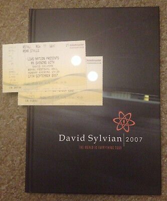 David Sylvian The World Is Everything Tour 2007 Hardback Book, CD + Tickets • 30£