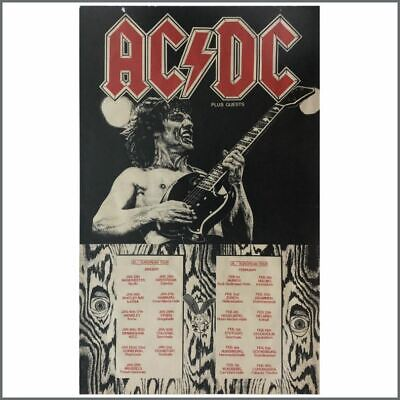 AC/DC Fly On The Wall Tour Poster 1986 (Europe) • 545£