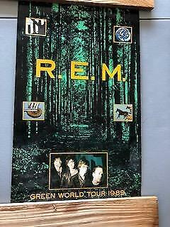 R.E.M. Green World Tour 1989 Original Promo Poster Cardstock 28x16 REM Numbered • 42.91£