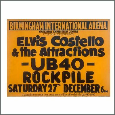 Elvis Costello And The Attractions UB40 1980 Concert Poster (UK) • 82.50£