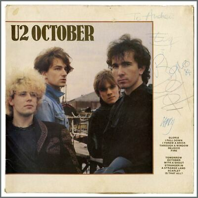 U2 Autographed 1981 October LP Sleeve (Ireland) • 1,980£
