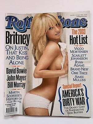 Britney Spears / Hot List / Tiger Woods Usa Rolling Stone Magazine October 2003 • 39.99£