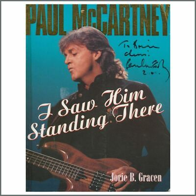 Paul McCartney 2000 Autographed I Saw Him Standing There Paperback Book (USA) • 605£