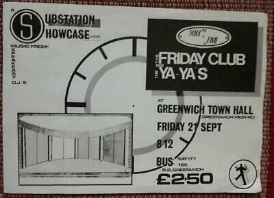 1 X Flyer The Friday Club, Greenwich Town Hall, 1990 Two Tone • 0.50£