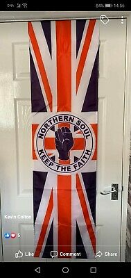 Northern Soul Keep The Faith Union Jack Flag Banner • 11£