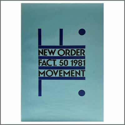 New Order 1981 Movement Promotional Poster (UK) • 275£