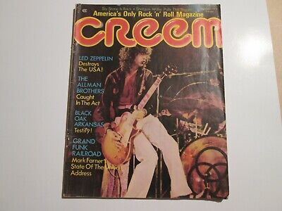 Creem Magazine...sept 1973...Led Zeppelin... Allman Brothers...and More • 11.56£