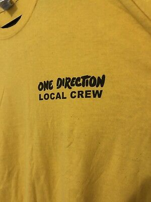 One Direction Local Crew T-shirt 2015 Tour Size XL Collectors Item  • 5£