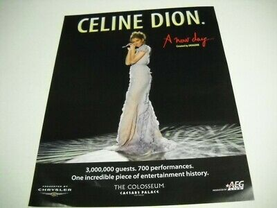 CELINE DION One Incredible Piece Of Entertainment History 2007 Promo Poster Ad  • 9.26£