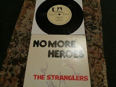 Rare, The Stranglers Fully Signed Brazilian 7  Single, No More Heroes. • 200£