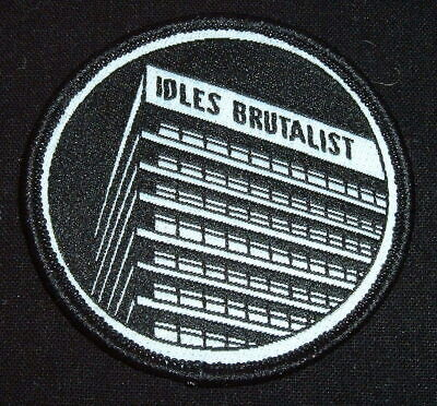 IDLES BAND..OFFICIAL BRUTALIST PATCH..MINT 6cm RARE IRON ON • 34.99£