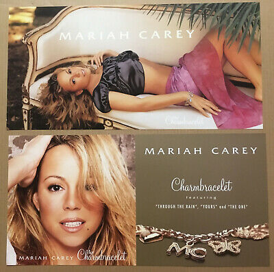 MARIAH CAREY Rare 2002 DOUBLE SIDED PROMO POSTER FLAT Of Charmbracelet CD 24x12 • 25.03£